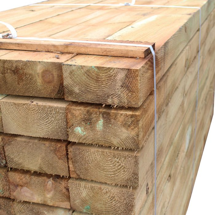 Garden Sleepers Supplier Glasgow Railway Sleepers Timber 2400mm 2.4m
