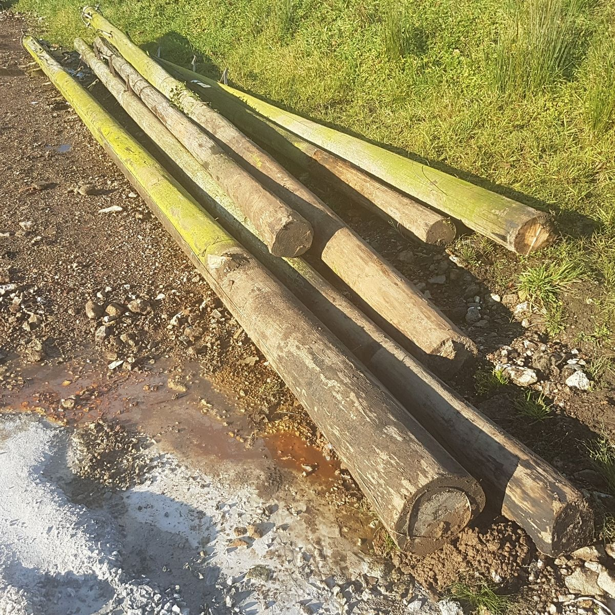 used telegraph poles reclaimed
