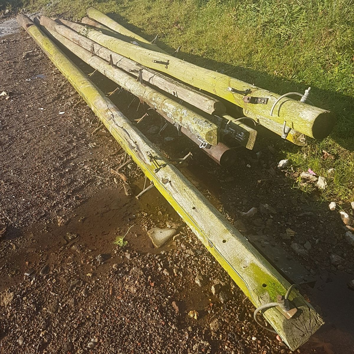 used utility poles reclaimed