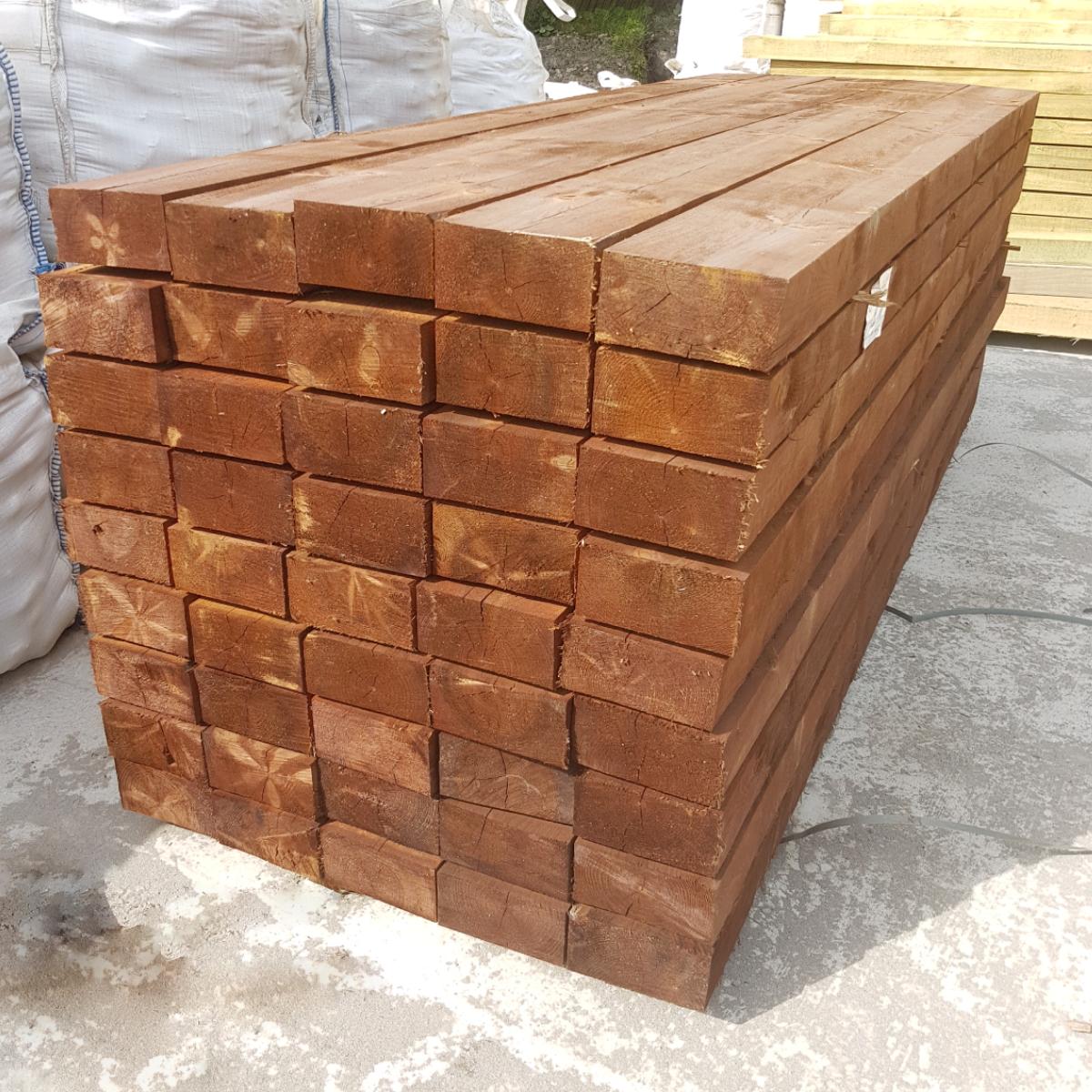 brown treated railway sleeper pallet mitchell turf 3m sleeper