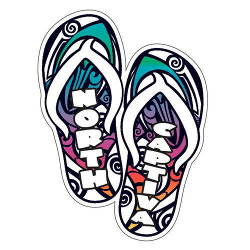 Wood Sticker - Sandals