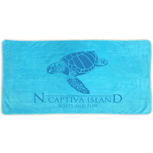Towel - North Captiva Sea Turtle - Turquoise
