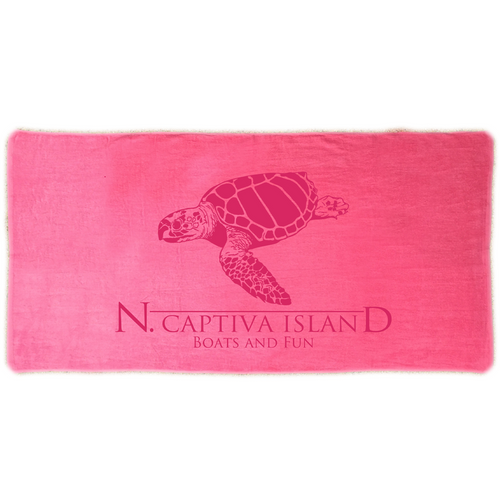 Towel - North Captiva Sea Turtle - Pink
