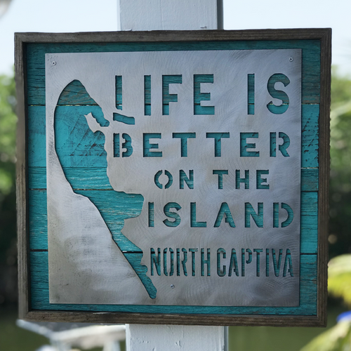 RECYCLED - Life is Better on North Captiva, Island Map