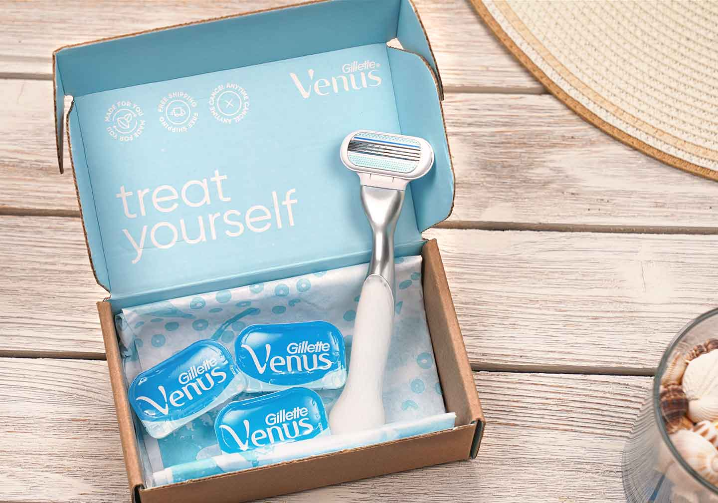 Customize your shave with Venus blades and how often you shave