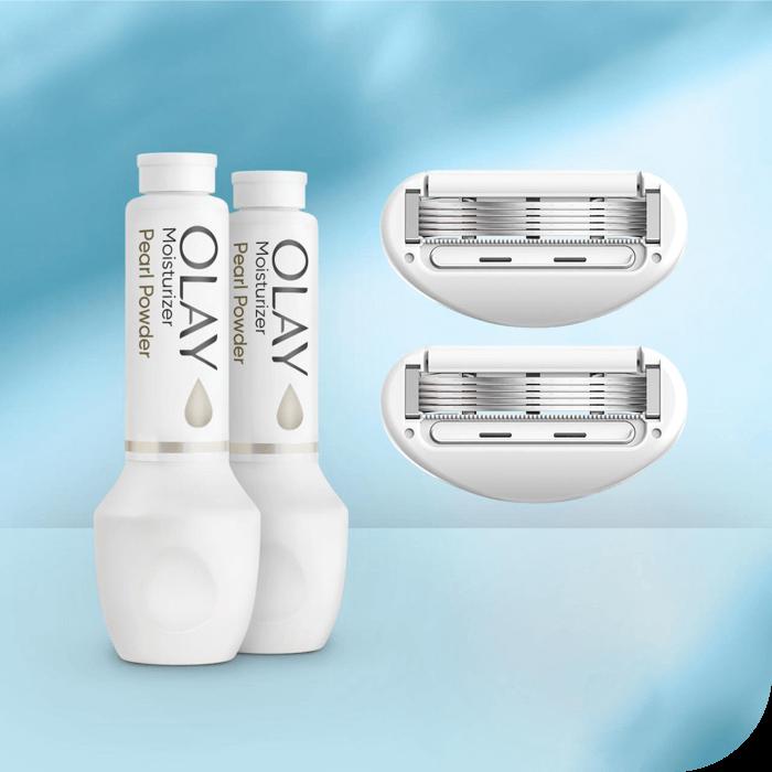 2 blade and 2 moisturizer refills