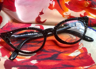 Crystal Reading Glasses (black available in all strengths)
