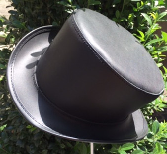 Steampunk Leather High Top Hat