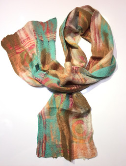 Colors of Earth Silk & Wool Scarf