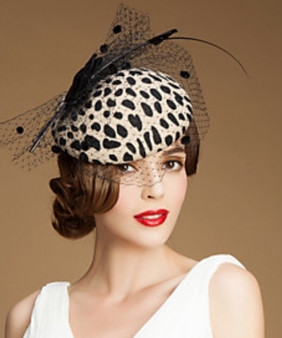 Carmen Leopard Fascinator /hat