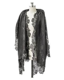 Lace and cashmere Shawl/wrap (other colors available)