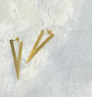 Golden V Earrings