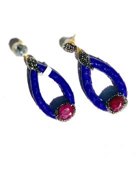 Purple Oblong Earrings