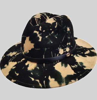 Tie-Dye Wool Felt Hat