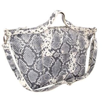 Genuine Italian Leather Snake Print Handbag