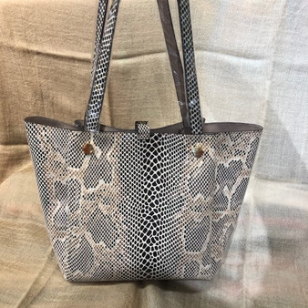 Faux Snake Skin Shoulder Bag