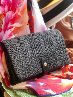Woven Leather Clutches (3 Colors Available)