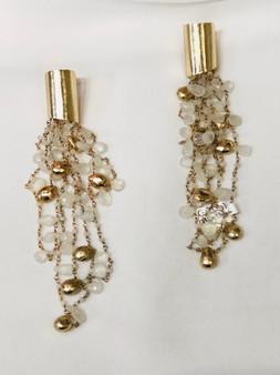 Moonstone Gold Earrings