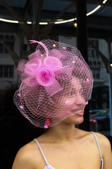 Willow Pink Fascinator