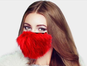 faux fur, mask, fashion, christmas, imitation fur, holidays, red, fur mask, gift, holiday gift.