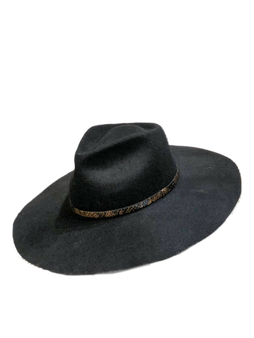 black hat with belt