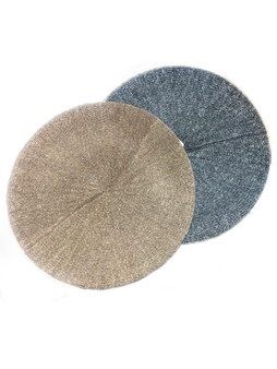 grey and gold berets with glitter