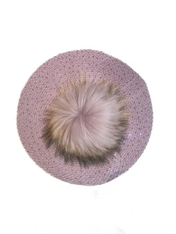 LAVENDER BERET ON WHITE BACKGROUND