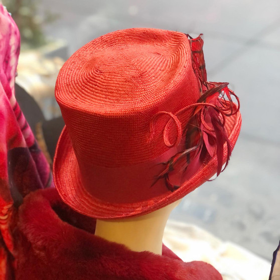 Cataryna Straw and Feathers Hat