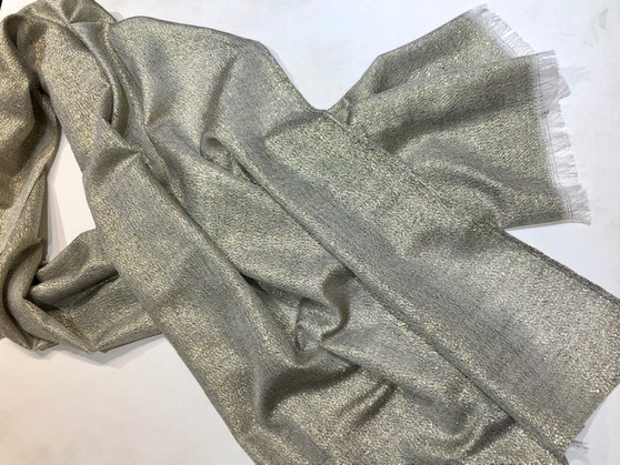 Silver Shawl with Gold Shimmer