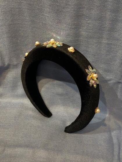 Crystal Flowers Headband