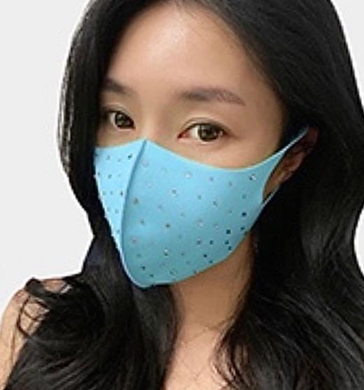 Crystal Studded Mask (Multiple Colors)