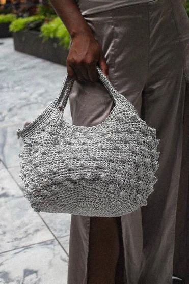 Silver Net Handbag