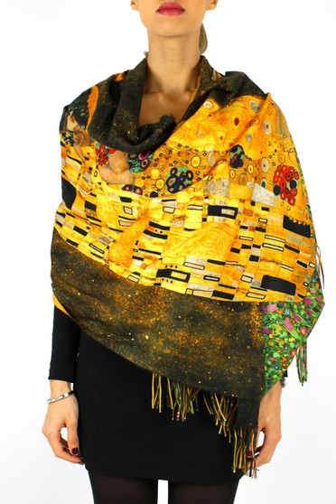 'The Kiss' Cashmere Scarf