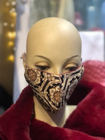 mannequin wearing silk face mask