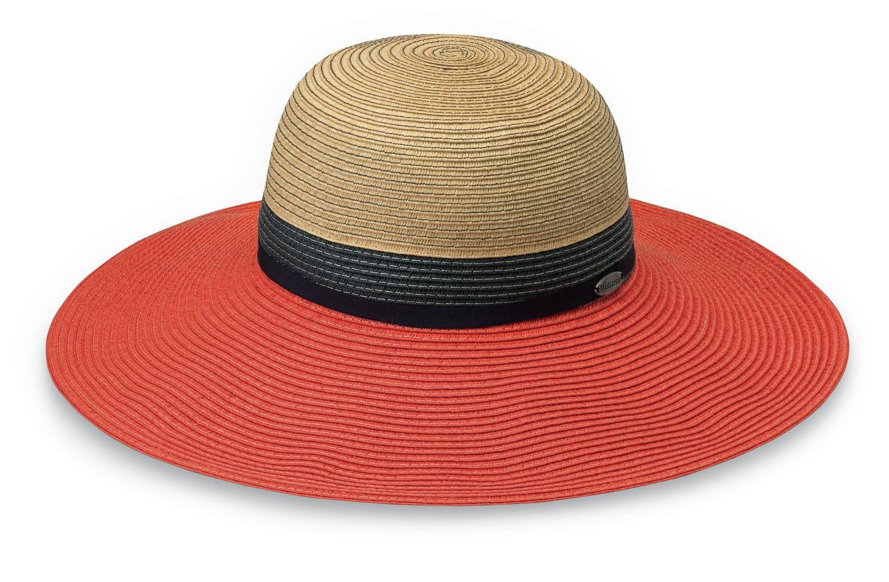 c69db4d9fc9 Womens Walaroo St Tropez UPF50+ Sun hat orange combo