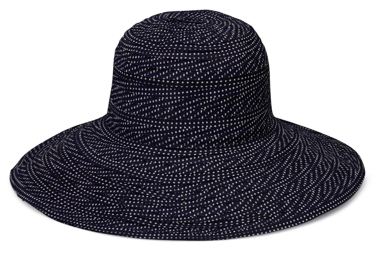 Womens Wallaroo UV scrunchie hat black white dots d6c30ca5d3a2