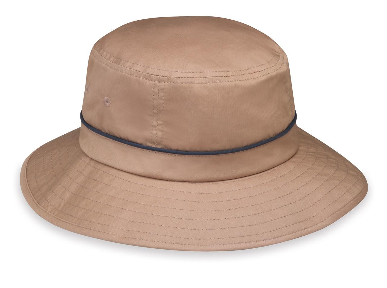 Wallaroo Mens UPF50+ shelton sun hat camel navy 79ed7be44ad