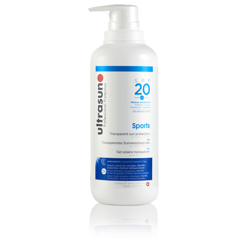 Ultrasun Clear sports spf20 liquid gel sunscreen 400ml