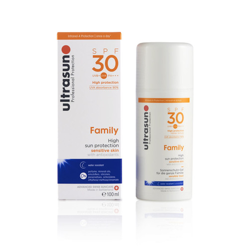 Ultrasun sensitive family formula once a day sun protection spf30 100ml