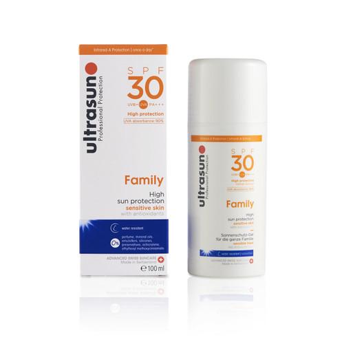 Ultrasun sensitive family formula once a day sun protection spf30 100ml