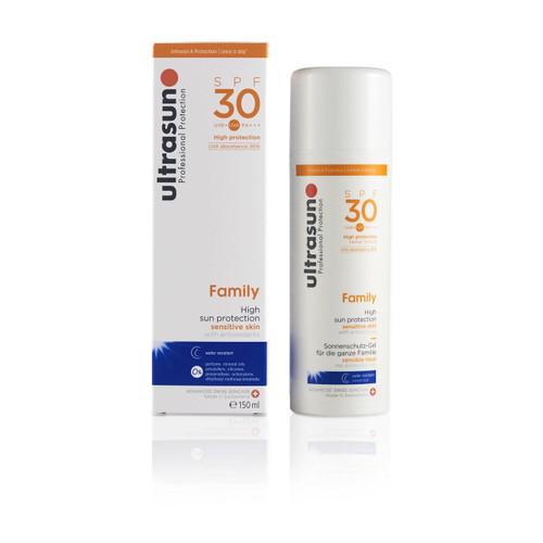 Ultrasun sensitive family formula once a day sun protection spf30 sunscreen 150ml