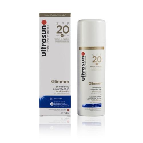 Ultrasun once a day sensitive glimmer spf20 100ml