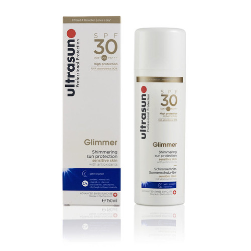 Ultrasun once a day sensitive glimmer spf30 sunscreen 150ml