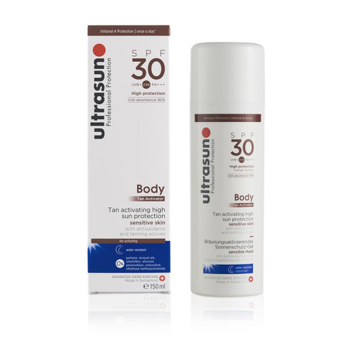 Ultrasun SPF30 body tan activator once a day sun protection lotion sunscreen 150ml