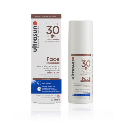 Ultrasun SPF30 face tan activator once a day sun protection lotion 50ml