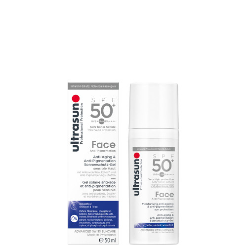 Ultrasun SPF50+ anti-pigmentation and anti ageing face sun protection