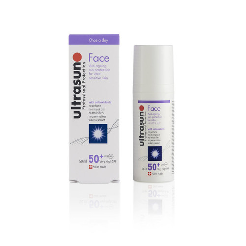 Ultrasun SPF50+ anti ageing face sun protection sunscreen