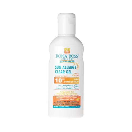 Rona Ross Allergy sun protection clear gel SPF10 160ml
