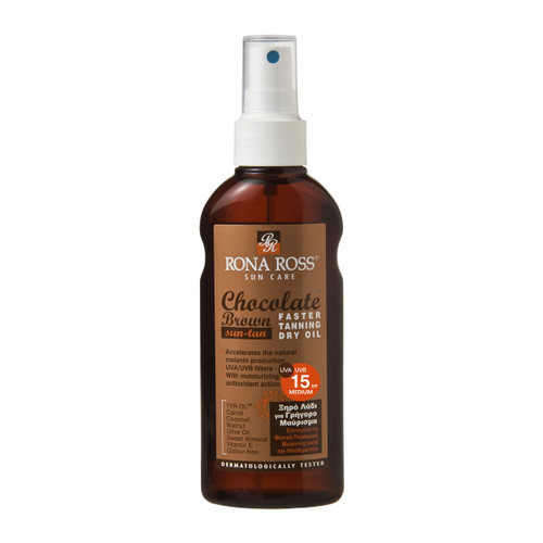 Rona Ross Chocolate Tanning Accelerator Oil SPF15 (160ml)