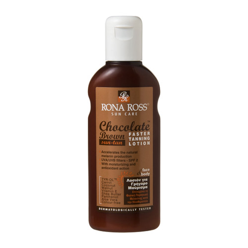 Rona Ross Chocolate Brown Faster Tanning Lotion SPF2 (160ml)